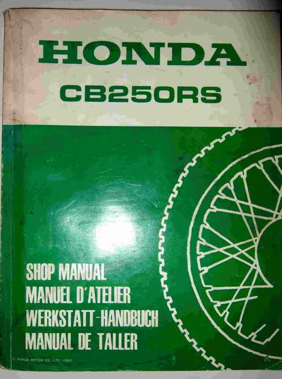honda cb250rs workshop manual 2fiftycc com home of the quarter litre rh 2fiftycc com Honda CBR 250 honda cb 250 rs service manual