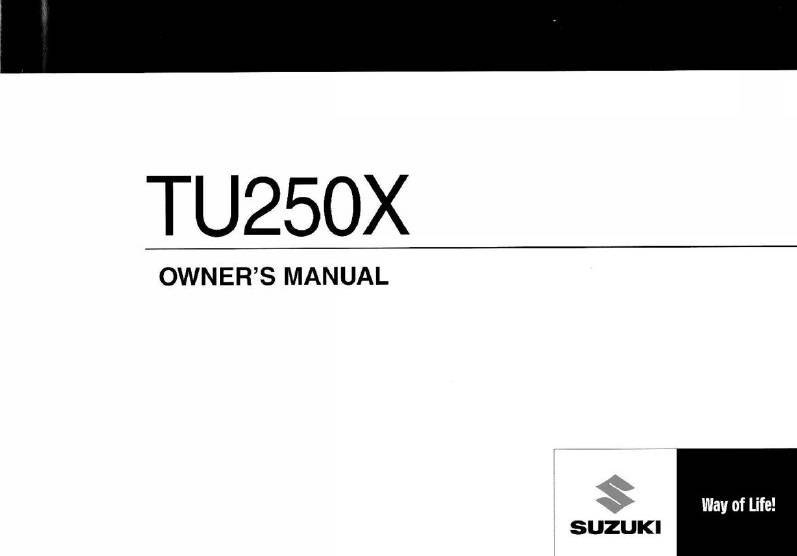 Suzuki Tux Owners Manual