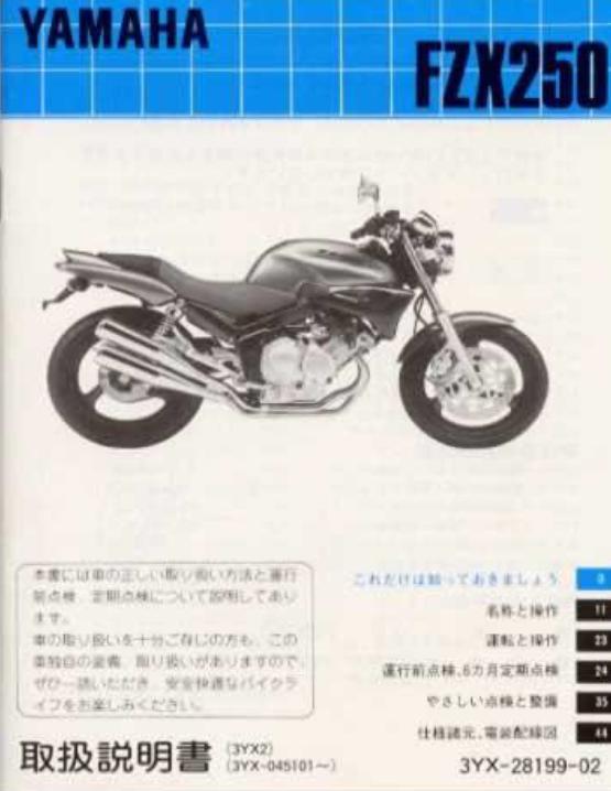 yamaha fzx250 zeal owners manual jap 2fiftycc com home of the rh 2fiftycc com Yamaha Banshee Wiring-Diagram Yamaha Outboard Wiring Diagram