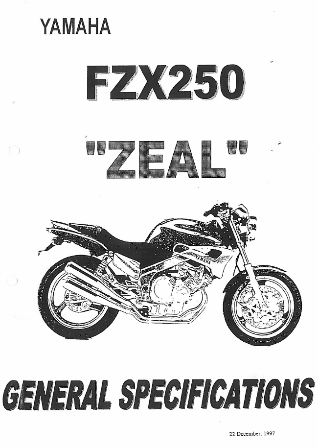 yamaha fzx250 zeal specifications 2fiftycc com home of the rh 2fiftycc com Yamaha Outboard Wiring Diagram Yamaha ATV Wiring Diagram
